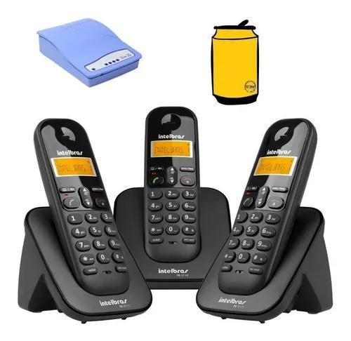 Aparelho telefone fixo com 2 ramal ts 3113 linha celular
