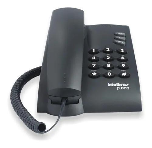 Aparelho telefone fixo com fio intelbras pleno preto