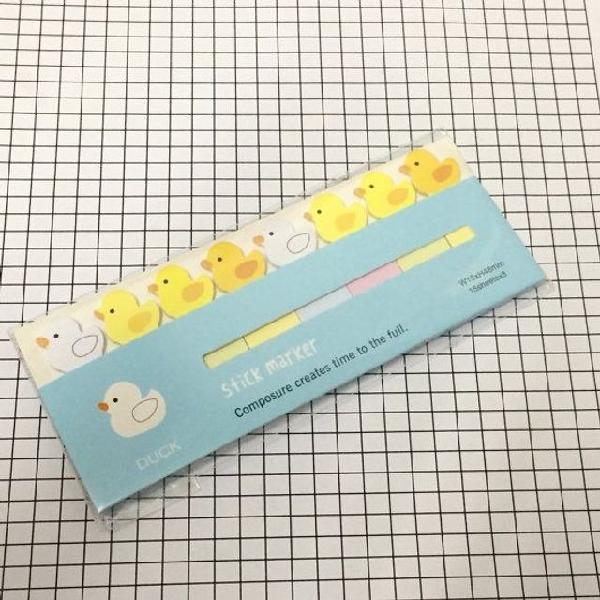Bloquinho de recados marcador de páginas patinhos