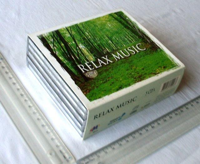 Box cds de músicas - coleção relax music - 5 cds -