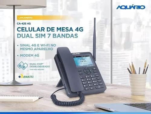 Celular rural de mesa 4g 7 bandas com internet wifi aquário