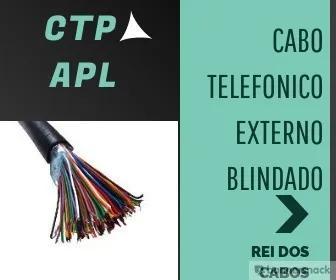 Fio telefonico blindado ctp 50x20 pares com 35 metros