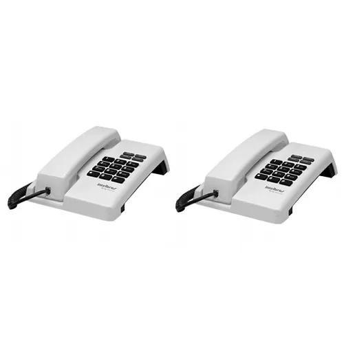 Kit 02 telefones com fio tc 50 pr