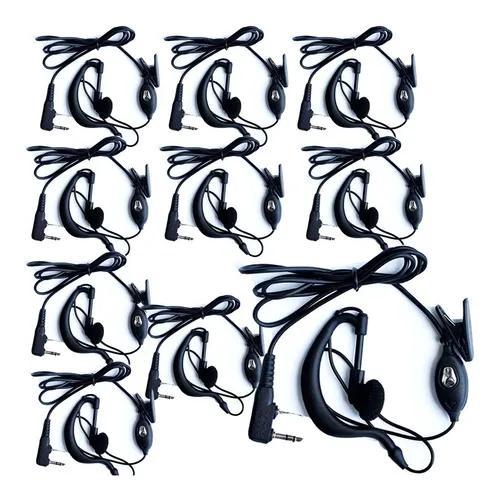 Kit 10 fone de ouvido de radio comunicador baofeng 777s uv5r
