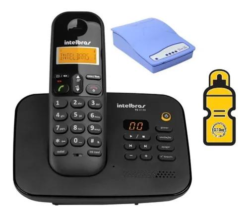 Kit aparelho telefone secretaria eletronica entrada p/ chip