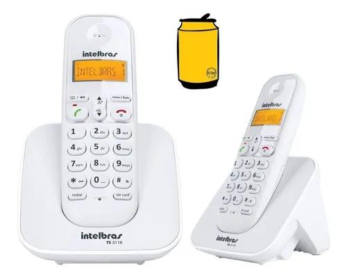 Kit telefone ts 3110 intelbras com extensão data hora