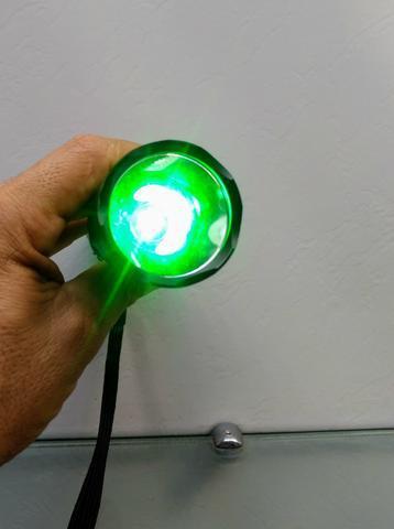 Lanterna tática luz verde top foco redondo caça pesca