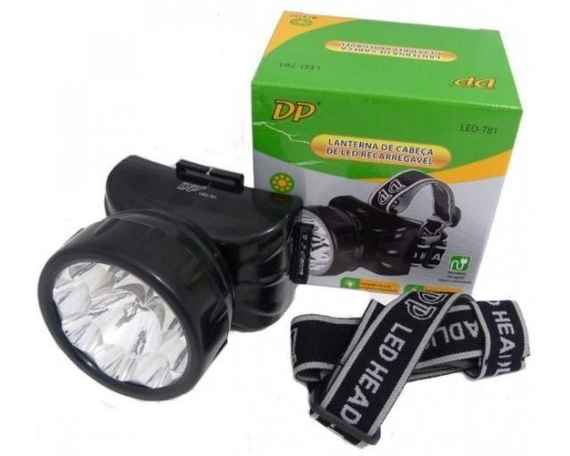 Lanterna de cabeça recarregavel 1 led qh-102