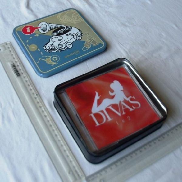 Lata box cds de músicas - som livre - coleção divas - 4