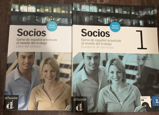 Livro curso de espanhol socios (a1- a2) + cd