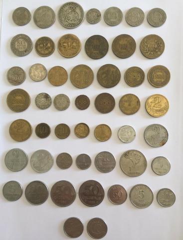 Lote c/ 50 moedas nacionais distintas