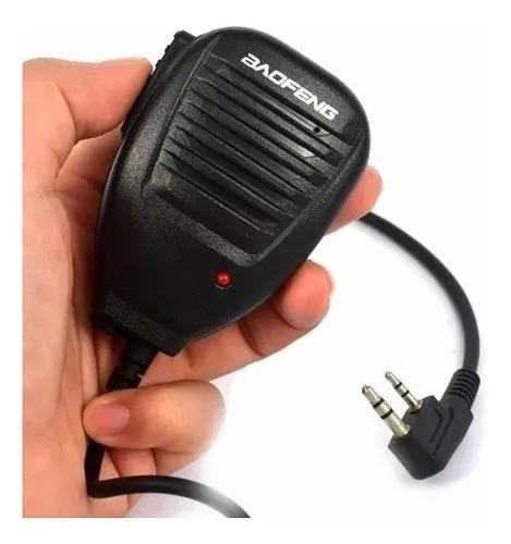 Microfone mini ptt para ht radio baofeng 5r 6r original ptt