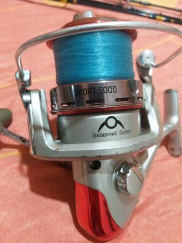 Molinete albatroz sport 5000 com 2 carretel excelente estado
