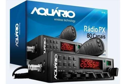 Radio px amador aquario 80 canais am/fm - anatel - rp80