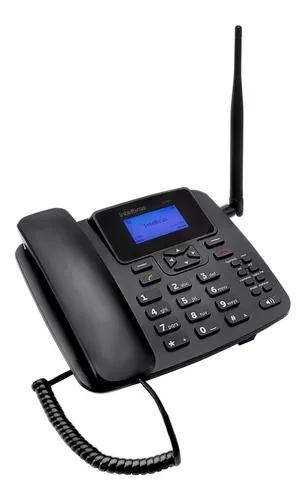 Telefone celular com fio gsm cf 4201 entrada chip intelbras