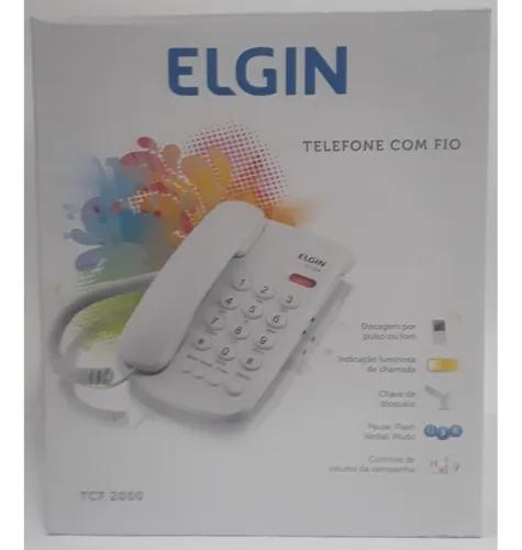 Telefone com fio - elgin - tcf 2000 - branco