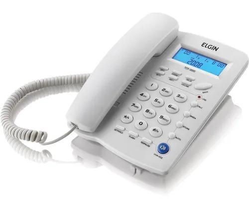 Telefone com fio indentificador de chamadas agenda p/ 12 num