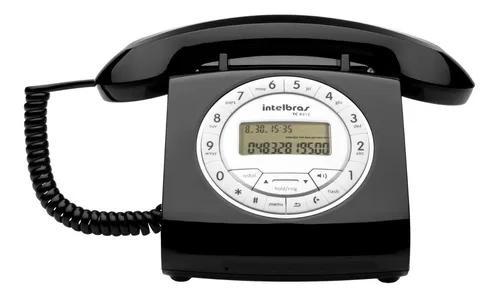 Telefone com fio intelbras tc 8312 identificador de chamadas
