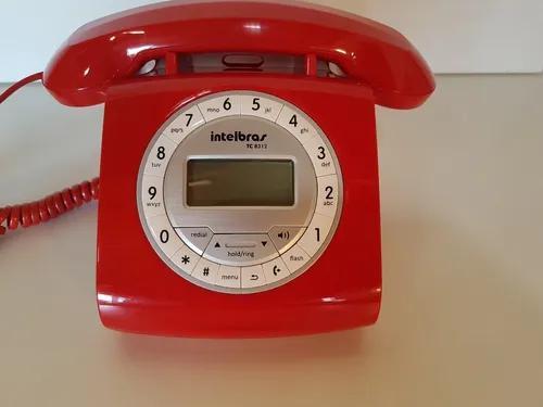 Telefone com fio intelbrás retrô tc8312