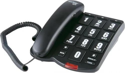 Telefone com fio tok fácil teclas grandes preto intelbras
