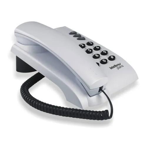 Telefone intelbras pleno com fio e com chave - cinza artico