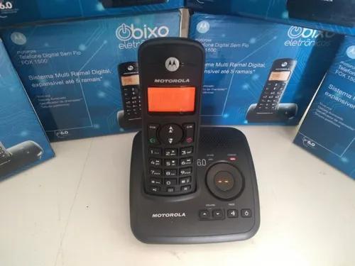 Telefone motorola s/ fio c/ viva-voz secretaria