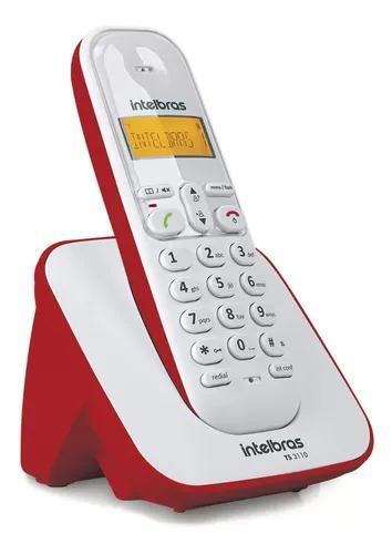 Telefone s/ fio identificador de chamadas intelbras - ts3110