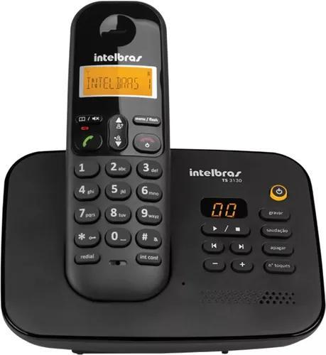 Telefone s/fio ts3130 preto secretaria eletronica intelbras