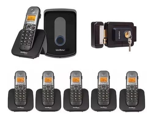 Tis 5010 interfone telefone com 5 ramais s/fio intelbras