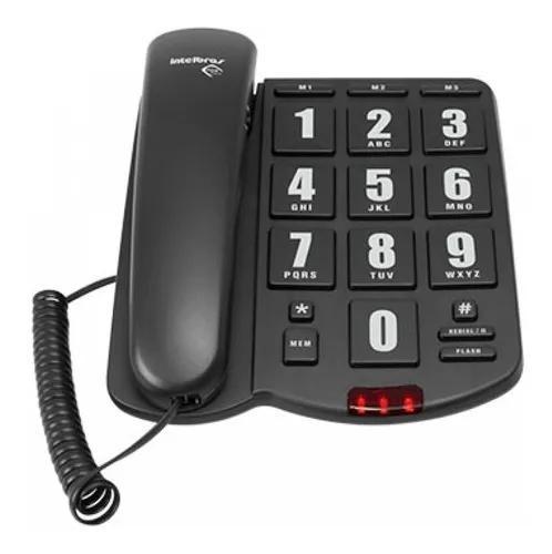 Tok fácil telefone com fio teclas grandes intelbras