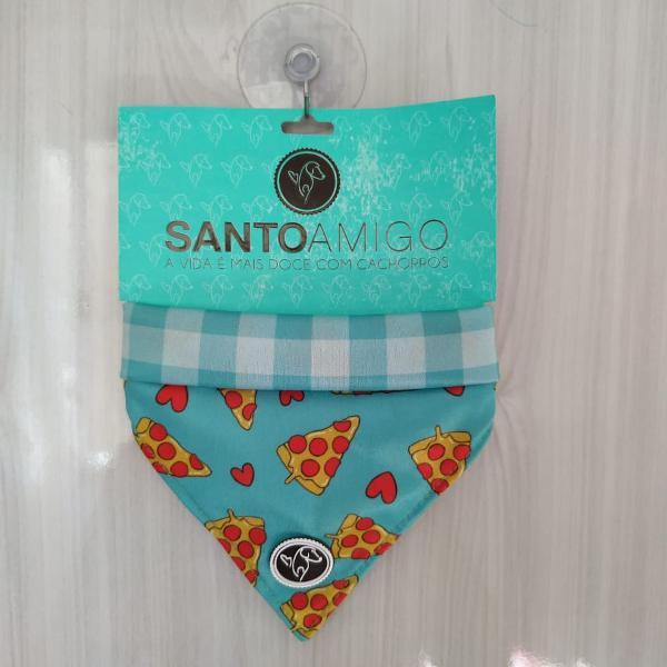 Bandana estampa pizza santo amigo - tamanho p