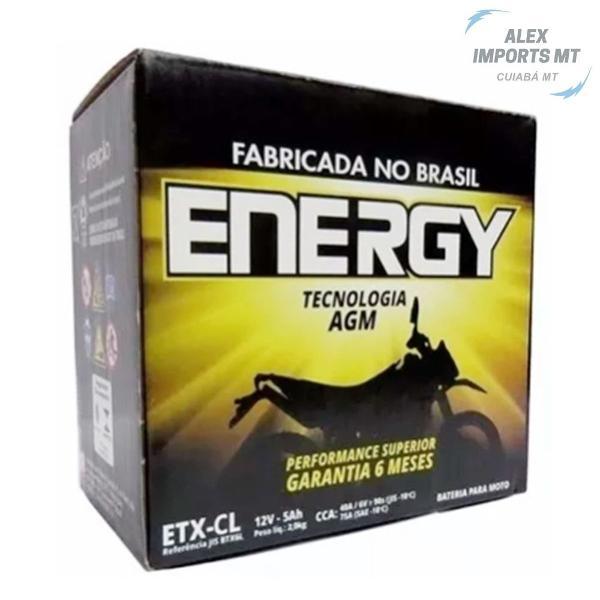 Bateria de moto cg titan 125 ks biz 100 ks energy 4ah etx-5l
