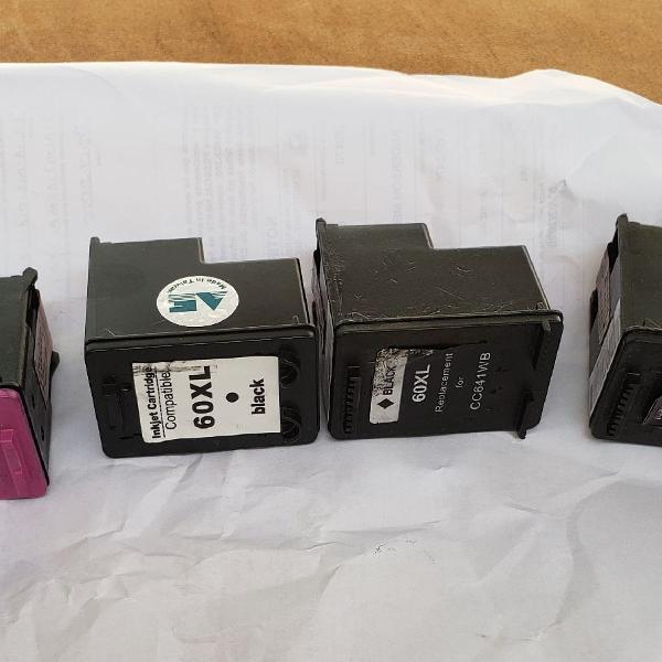 Cartucho hp preto e colorido
