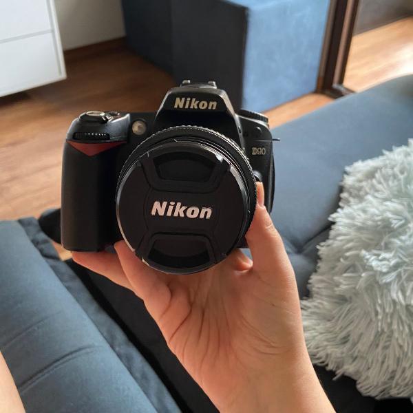 Câmera nikon d90 lente 55-200