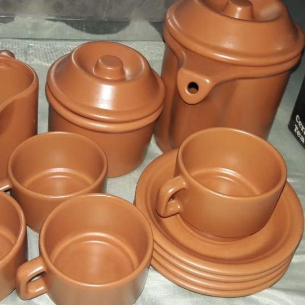 Jogo de chá - cerâmica & rústico
