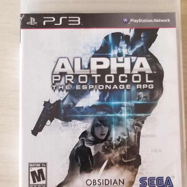 Jogo ps3 alpha protocol the espionage rpg