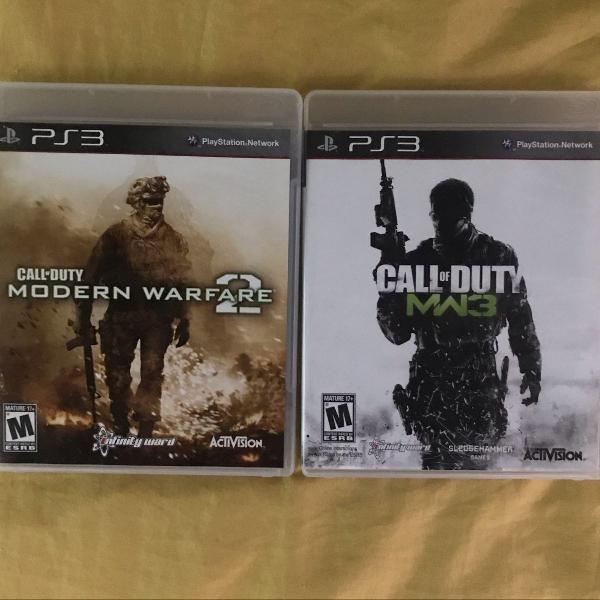 Jogos call of duty modern warfare 2 & 3 - americanos