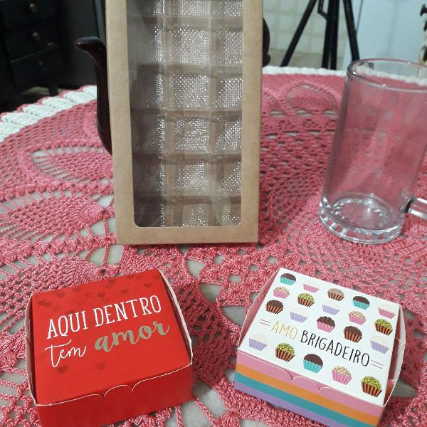 Kit caixa para presentes chocolates sabonetes