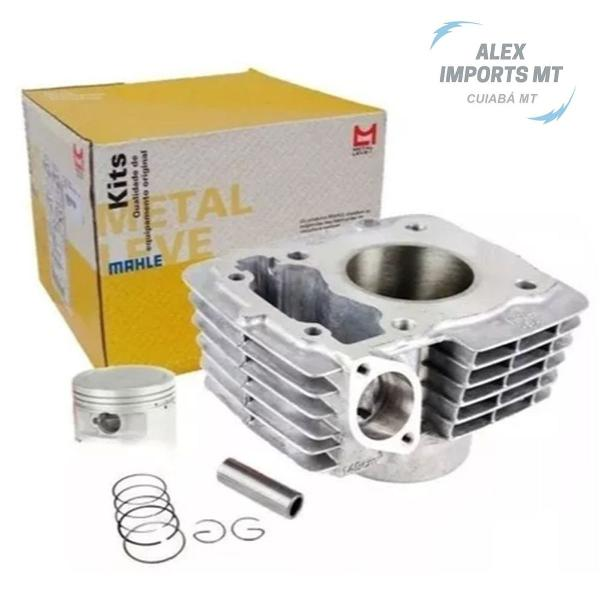 Kit cilindro pistão anel motor cg 150 titan metal leve