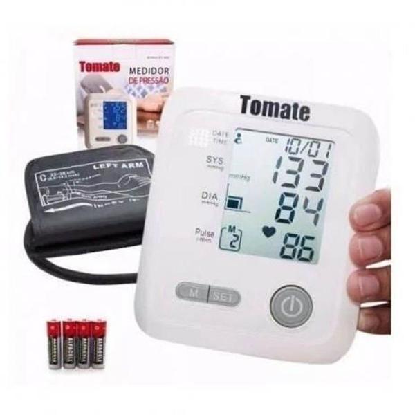 Medidor de pressão arterial digital tomate mt-9003 braço