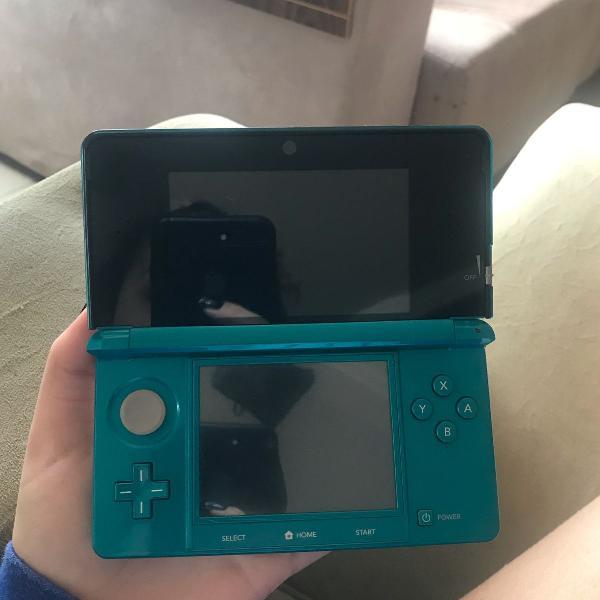 Nintendo 3ds blue acqua