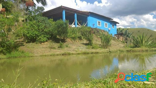 Chácara de 20.000 m² à venda em monteiro lobato/sp com lagos e casa sede