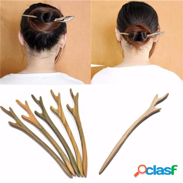 1 pc de madeira feitos à mão cabelo pin varanda madeira de pauzinho esculpido cabelo acessórios