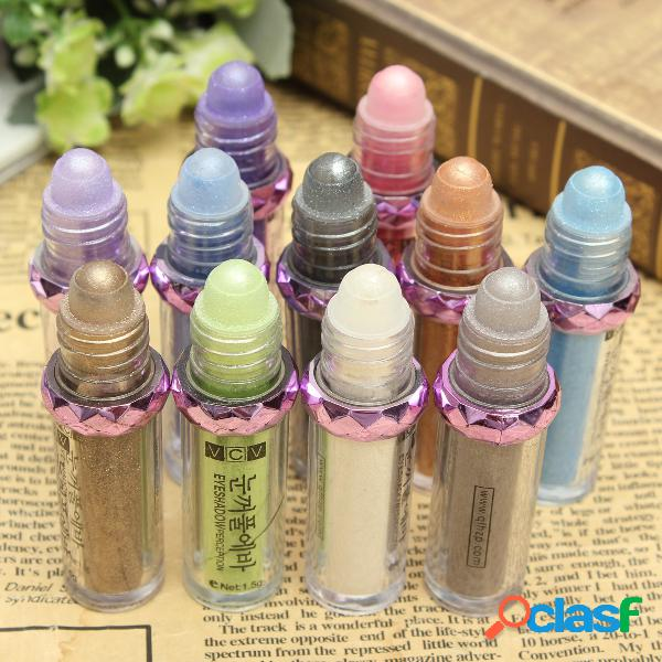11 cores roller eye shadow natural luminous warm color make up glitter eyeshadow