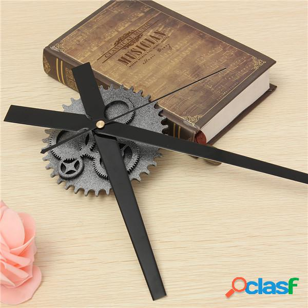 Vintage diy clock mechanism clock movement retro gear grande relógio de parede home decor