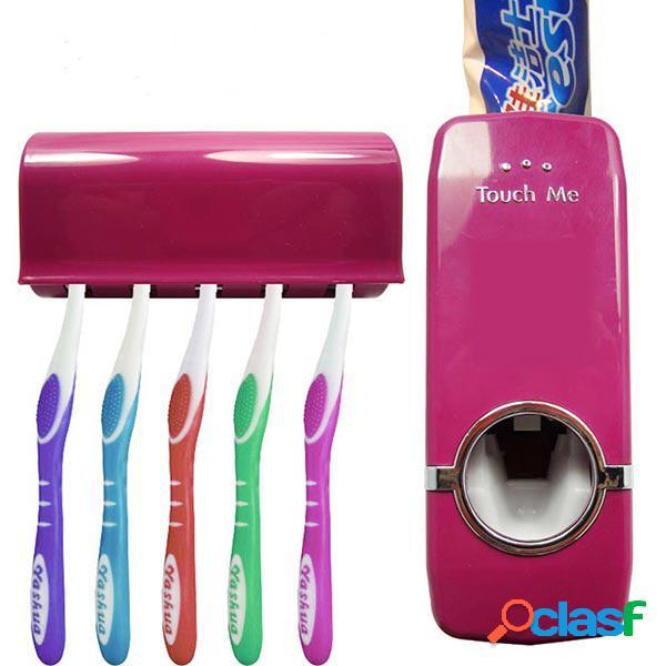 Distribuidor automático de pasta de dentes suporte livre de escova de dentes