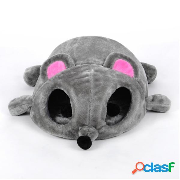 Cartoon rato forma cama pequeno cão gato caverna ninho acolhedor coxim dormir coxim casa de estimação casa
