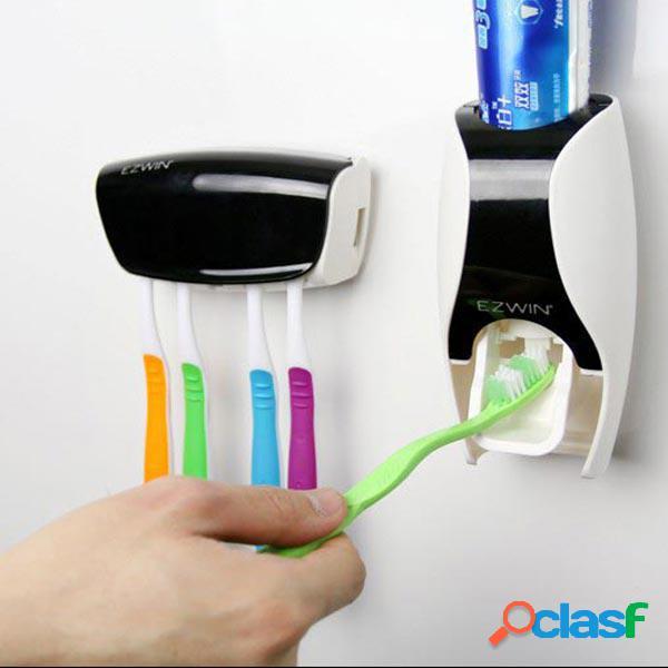 Distribuidor automático de pasta de dente squeezer set de suporte de dentes de dentes suprimentos de banheiro