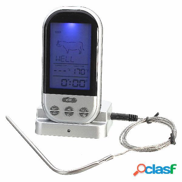 Controle remoto sem fio alimentos carne ao exterior bbq termômetro cozinha home cozinhar forno termômetro