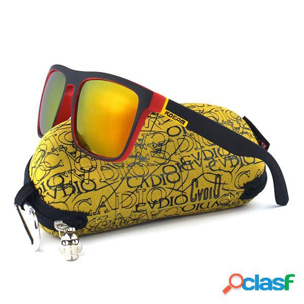 Óculos de sol colorido polarizado outdoor condutor esporto uv400 para homens